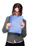Smiley business woman Royalty Free Stock Image
