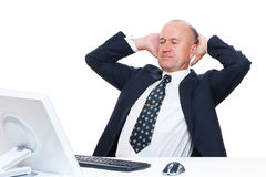 Smiley businessman have a break Stock Photography