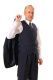 Smiley businessman in suit Royalty Free Stock Photography
