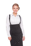 Smiley businesswoman in formal clothes Royalty Free Stock Images