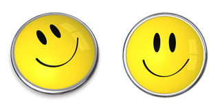 Smiley Button Royalty Free Stock Photography