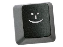 Smiley button Stock Photography