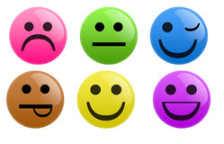 Smiley Buttons Royalty Free Stock Images