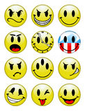 Smiley Buttons. A selection of smiley buttons Stock Images