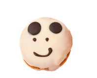 Smiley cake isolated Royalty Free Stock Image