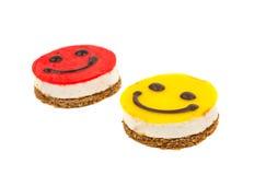 Smiley cake Stock Photography