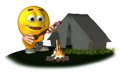 Smiley Camping Royalty Free Stock Photo