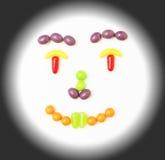 Smiley candy face. Stock Photos