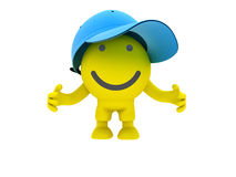 The smiley in a cap stock image