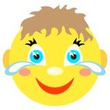 Smiley chłopiec śmia się i płacze Zdjęcia Royalty Free