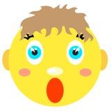 Smiley chłopiec wrzaski, okaleczający Zdjęcia Stock