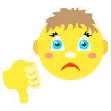 Smiley chłopiec z kciuka kciuka puszkiem Fotografia Stock