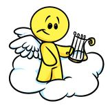 Smiley character angel cloud lira Stock Images
