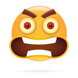Smiley. Character design. Icon style. Angry  face vector illustr Royalty Free Stock Images
