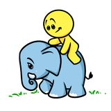 Smiley character  elephant Stock Images