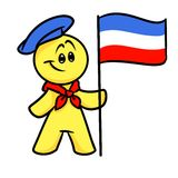 Smiley character French flag Royalty Free Stock Images