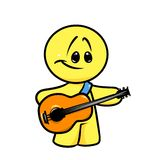 Smiley character guitar  musician Royalty Free Stock Images
