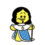 Smiley character king France Louis 13 Royalty Free Stock Image