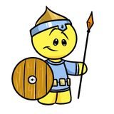 Smiley character medieval warrior Royalty Free Stock Photo