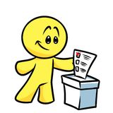 Smiley character vote election ballot Royalty Free Stock Photo