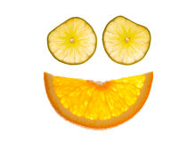 Smiley Citrus Face Stock Images