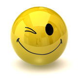 Smiley clignotant heureux Photo stock