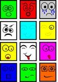 Smiley colorés Photo libre de droits