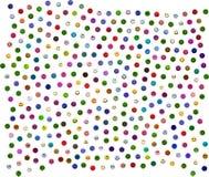 365 smiley colorés différents sur le blanc Photographie stock