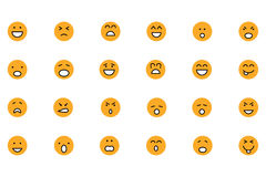 Smiley Colored Vector Icons 1 Stockfotografie