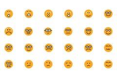 Smiley Colored Vector Icons 3 Lizenzfreies Stockfoto