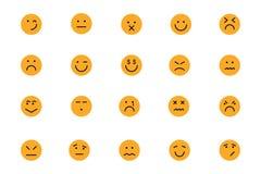 Smiley Colored Vector Icons 6 Lizenzfreies Stockfoto