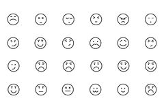 Smiley Colored Vector Icons 5 Photographie stock