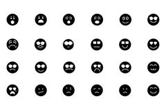 Smiley Colored Vector Icons 3 Photographie stock libre de droits