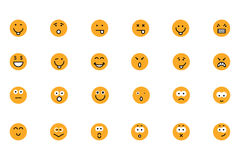 Smiley Colored Vector Icons 2 Royalty Free Stock Image