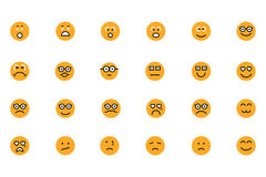 Smiley Colored Vector Icons 3 Royalty Free Stock Photo