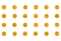 Smiley Colored Vector Icons 4 Royalty Free Stock Photo