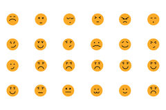 Smiley Colored Vector Icons 5 Stock Photography