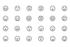 Smiley Colored Vector Icons 1 Royalty Free Stock Photo