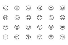 Smiley Colored Vector Icons 2 Stock Photography