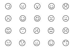 Smiley Colored Vector Icons 6 Stock Photo