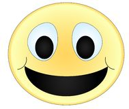 Smiley colorido bonito foto de stock royalty free