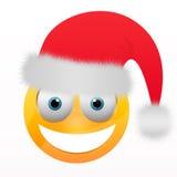 Smiley com chapéu de Santa Fotografia de Stock