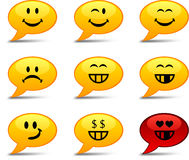 Smiley-Comics. Stockbild