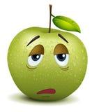 Smiley con acuto della mela illustrazione vettoriale