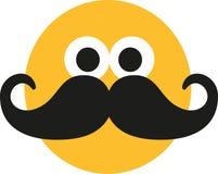 Smiley con el bigote stock de ilustración