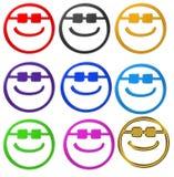 Smiley con las gafas de sol Imagen de archivo libre de regalías