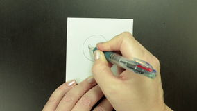 Smiley Confused is sketched by ball pen stock video
