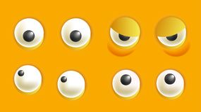 Smiley constructor with eyes isolated cartoon vector illustration Stock Image