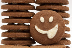 Smiley cookie Stock Image