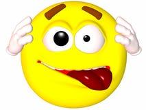 Smiley-Crazzzy illustration de vecteur